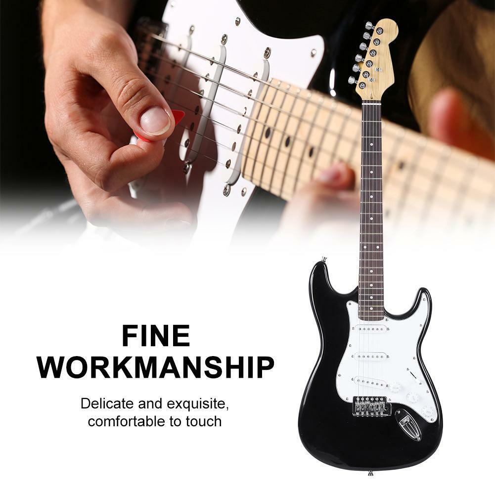 39in 6-String Electric Guitar pinkwood Fingerboard for Beginners Wooden UK