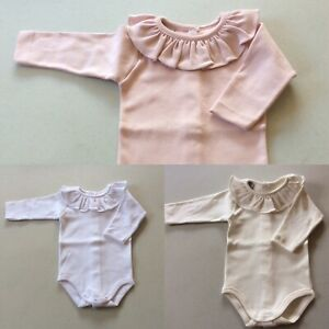 3 months to 24 Months All white Frill Collar Vest by Spanish Brand Babidu