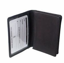 iLi Men's Leather RFID Blocking Gusseted Business Card Case w/ID window Black