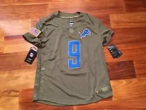 info for 98cff 3ae4f Details about NEW Nike DETROIT LIONS Salute to Service Matthew Stafford  Jersey Womens SZ M