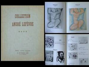 Catalogue Collection Andre Lefevre 1967 - Drouot Paris, Modigliani Picasso Leger
