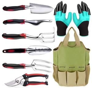 Garden Tool Set, 7 Pcs Heavy Duty Gardening Hand Tool Set, Non-Slip Handle Tools