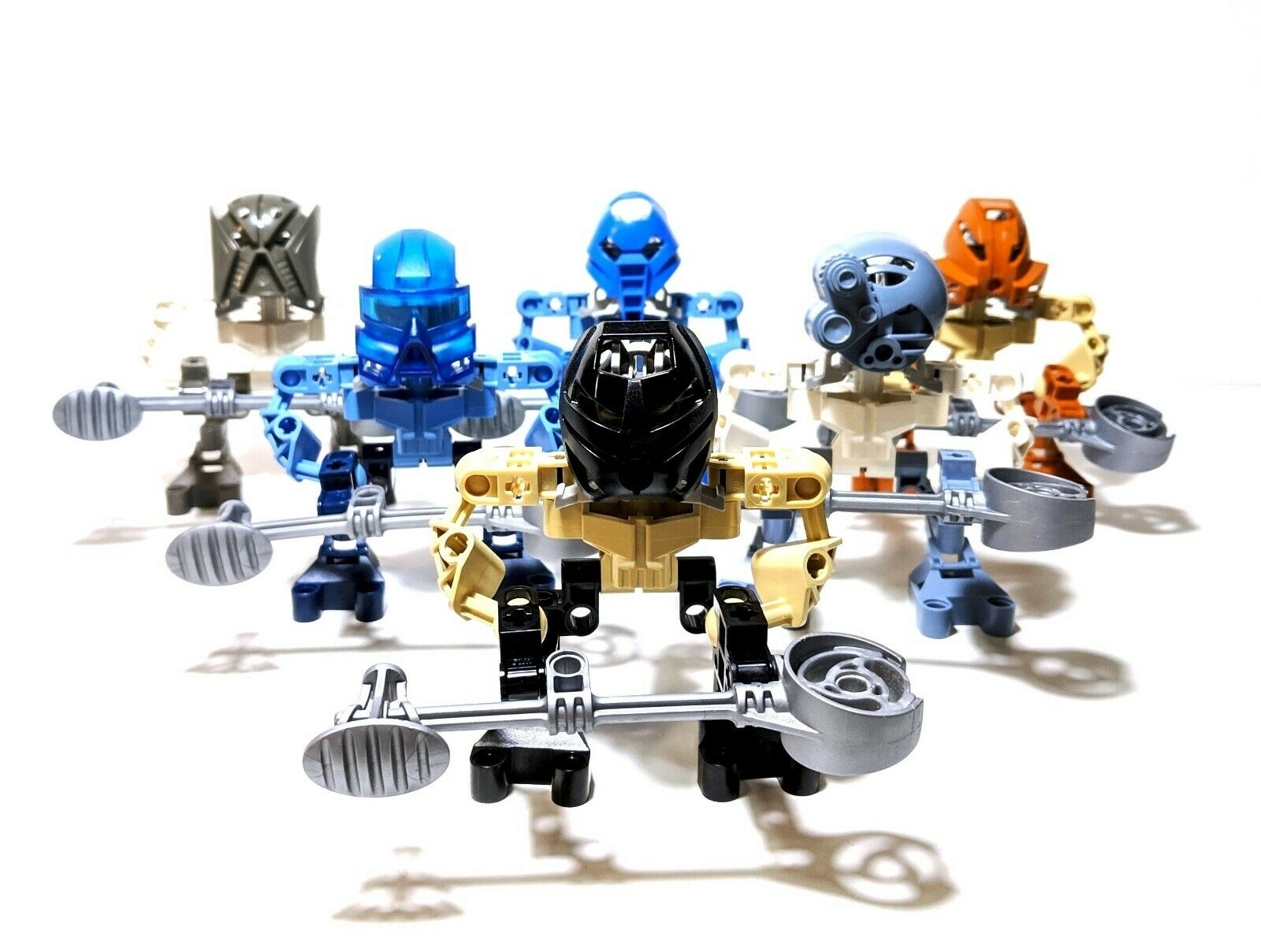 LEGO Bionicle Mata Nui Matoran Complete Set of 6  8581 8582 8583 8584 8585 8586