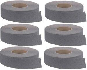 """(6) ea 3M 7740 2"""" X 60' ft Rolls Gray Self Stick Anti Slip Stair Tread Tape"""