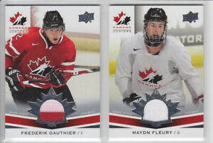 2014-15-UD-CANADA-JUNIORS-HAYDN-FLEURY-GAME-JERSEY-160-GAME-USED-Upper-Deck