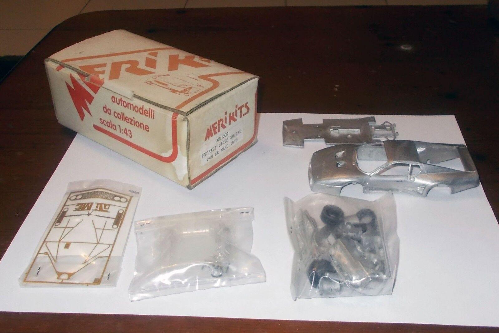 Model Kit Car MERI KITS FERRARI 512BB 3M ISO 24H LE MANS 1979 1 43