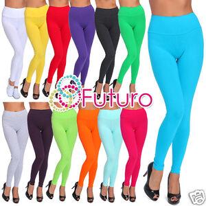 Full Length Coral Premium Cotton Leggings Comfortable Stretchy Pants Sizes 8-22