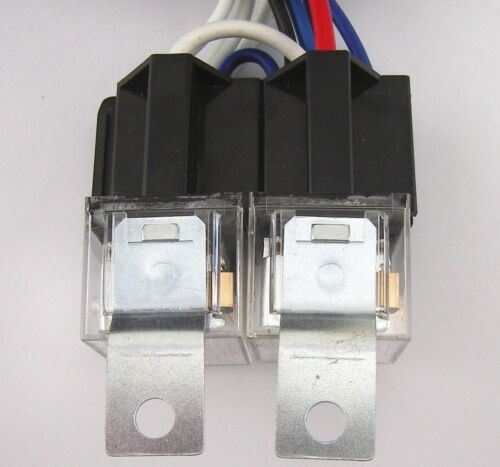 Headlight Twin 80a Relay Kit H4 or Sealed Beam Universal Fitment upto 130//100w