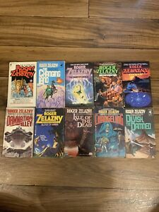Lot Of 10 Vintage Roger Zelazny Paperbacks First editions First Printings