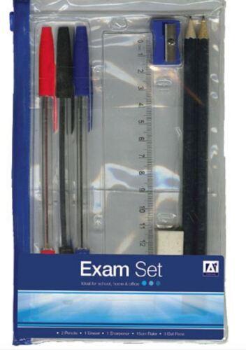 Anker 9pcs Clear School Pencil Case Set with Pens Ruler Pencils Sharpener Eraser