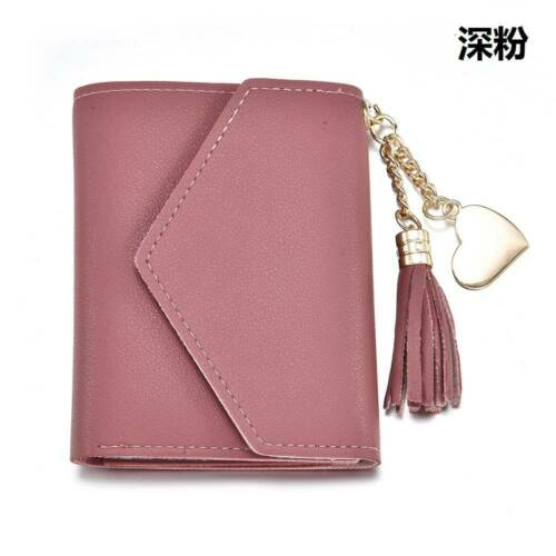 Women/'s Short Small Wallet Lady Leather Folding Coin Card Holder Money Purse HS