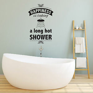 Image Is Loading Bathroom Wall Sticker Happiness Is Taking A Long