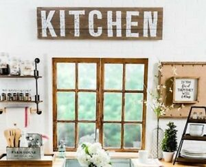 Details About Kitchen Wood Wall Decor New Farmhouse Country Shabby Chic