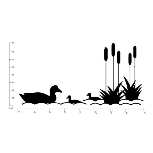 Duck Pond Scene Wall Sticker WS-32679