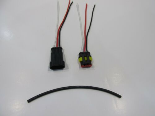 2 PC KIT 3 Pin Modo Auto Impermeabile connettori elettrici Spina con filo
