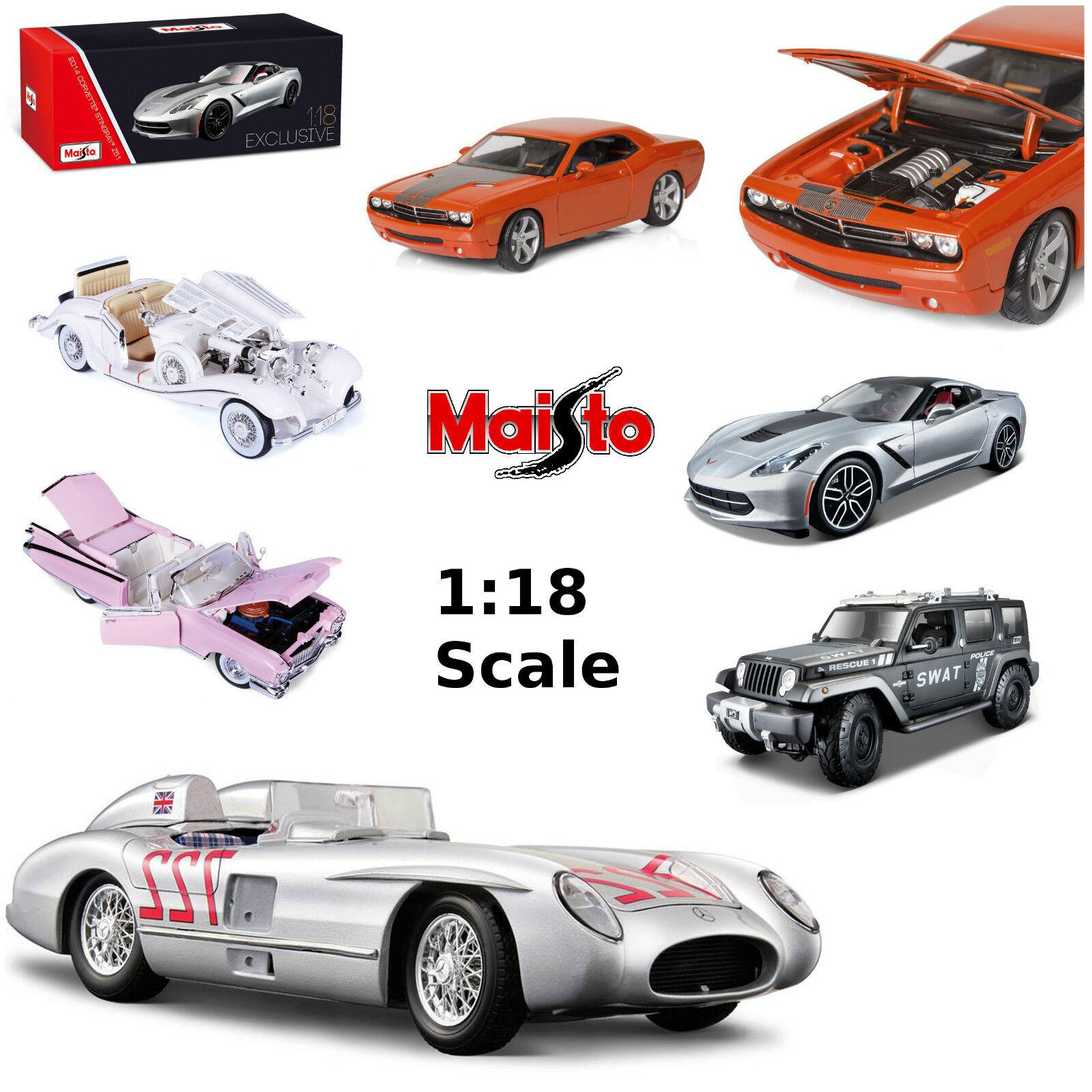 MAISTO 1 18 Modèles Réduits D'automobiles Corvette Mustang Rose Cadillac Jeep
