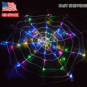 Halloween-Props-LED-Spider-Web-Outdoor-Party-Light-Up-Cobweb-Lighting-Decor