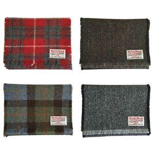 Harris Tweed Pure Wool Luxury Scarf Red, Blue Tartan, or Grey, Brown ... 3cb0e5aaaae