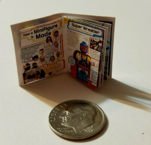"Miniature Dollhouse Legos Toys Action Figure  book Barbie 1//12 Scale  1/""  Ideas"