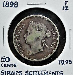 1898-Straits-Settlements-50-cents-F-12