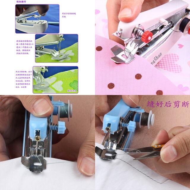 Mini Portable Needlework Cordless Hand-Held Clothes Fabrics Sewing Machine YH
