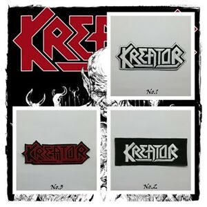 kreator patch sew on iron embroidered music thrash metal rock diy
