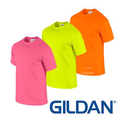 5XL Safety Colours Gildan Ultra Cotton T-Shirt Sizes Small Fluorescent