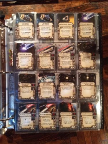 Star Wars X-Wing Star Wars Upgrade Card Display Pages 16 Pocket Pack of 50