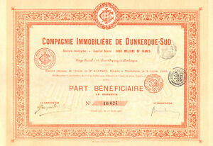 Compagnie-Immobiliere-de-Dunkerque-Sud-SA-part-beneficiaire-Dunkerque-1905