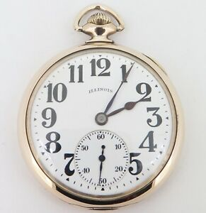 1919-Illinois-Sangamo-Special-23-Jewel-Gold-Filled-OF-16s-Railroad-Pocket-Watch