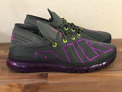 altura Más Leonardoda  30 NEW Men's Nike Air Max Flair Up Tempo Gray Purple Shoes AH9711-001 8.5  10 11
