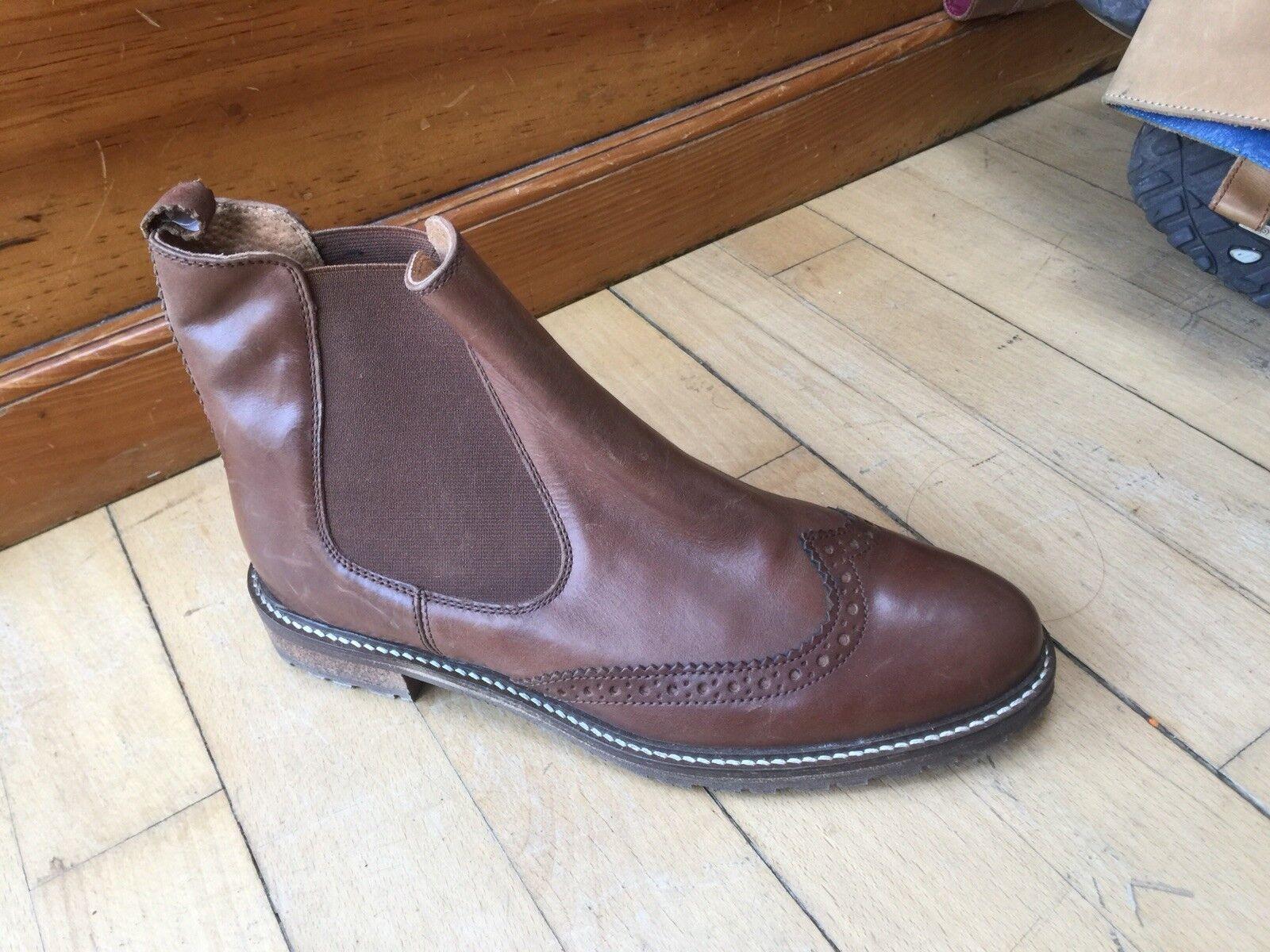Brand nouveau fatface Chelsea En Cuir Chaussures Bottes Taille 41