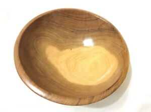 Details About Hand Carved Round Wooden Bowl Made In Kenya Hard Wood 7 Diameter Home Decor