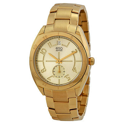 ESQ Origin Gold Dial Yellow Gold IP Stainless Steel Ladies Watch 07101401