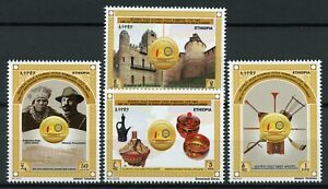 Ethiopia-Architecture-Stamps-2018-MNH-Diplomatic-Relations-with-Russia-4v-Set