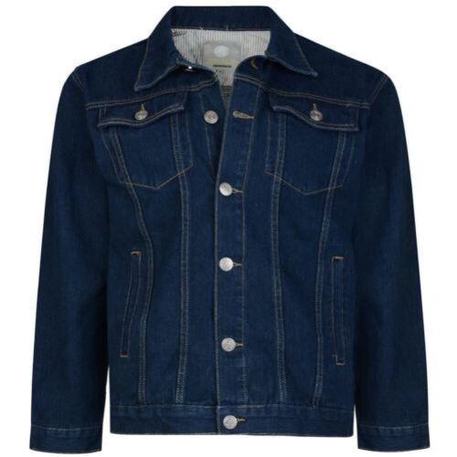 Indigo Bleu,Taille Kam Homme Haute Qualité Occidental Veste en Jeans 401