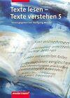 Texte lesen, Texte verstehen 5. Arbeitsheft von Wolfgang Menzel (2003, Geheftet)