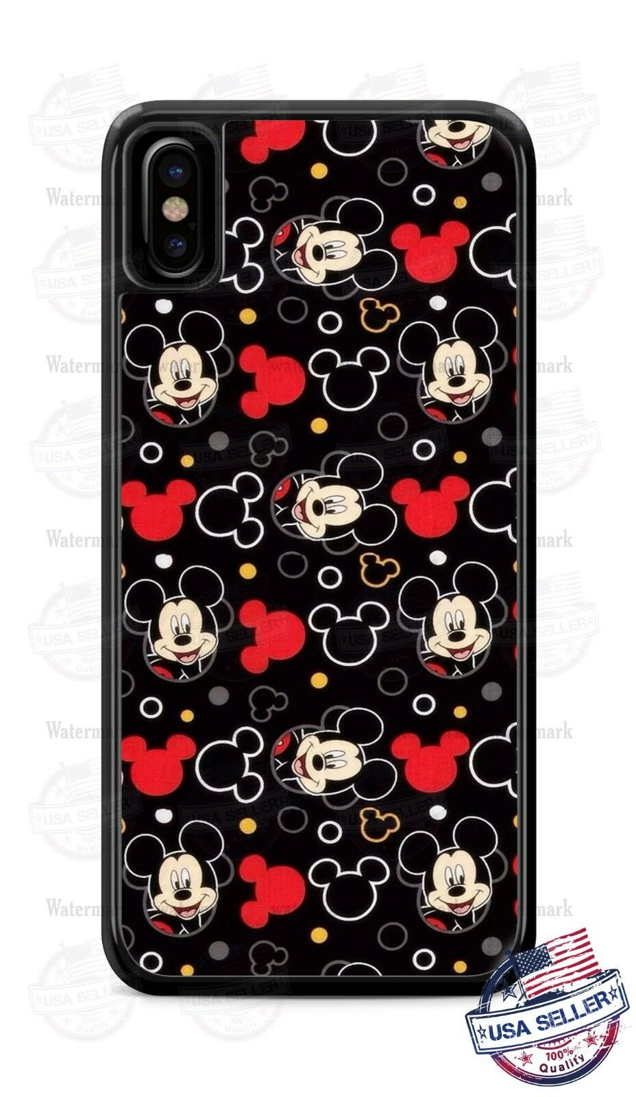 Mickey Mouse Collage Z1 Diseño Cubierta de la caja del teléfono para iPhone Xs Max Samsung LG etc.