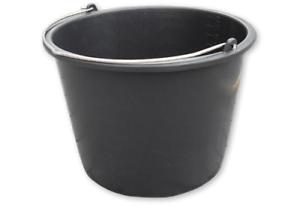 10x Baueimer 20 Liter Mörteleimer Schutteimer schwarz 2,60€//1Stk