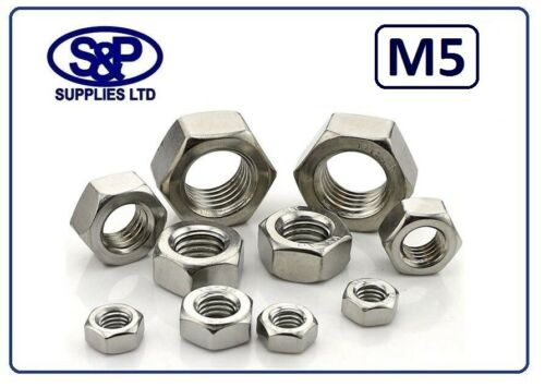 STAINLESS STEEL HEX FULL NUT THREAD SIZES 4MM UP TO 12MM DIN934 ST//ST A2-304