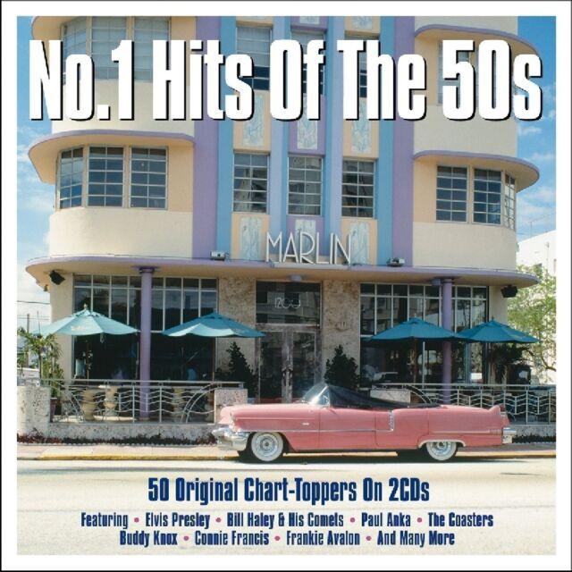 No 1 Hits of the 50s 50 uplifting suoni della 50er e 60er anni Elvis 2 CD NUOVO