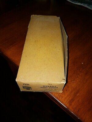Vintage Harvey Hubbell 15 AMP  Bakelite Flush Outlets #7331 125 volts 10 NOS