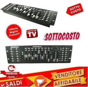 CONTROLLO-DMX-512-LUCI-MIXER-CONTROLLER-LUCI-DISCO-EFFETTO-DJ-DISCO-192-ch-NEW
