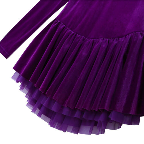 US Womens Adult Dance Costume Ballet Ice Skating Leotard Tutu Gymnastics Dress