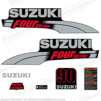 Suzuki 50hp FourStroke Outboard Engine Decal Kit DF50 Replacement Decals 03/'-09/'
