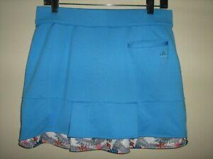 Womens sz 6 Adidas Climacool Skort Skirt Tennis Golf Blue (shorts under)