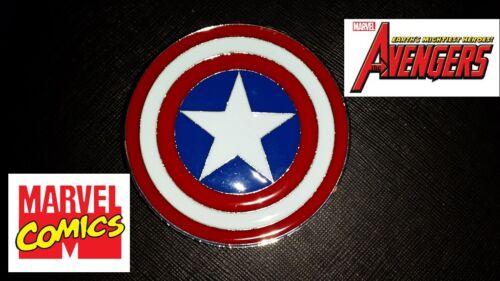 Captain America Shield Belt Buckle Full metal cosplay or just wear : US Seller