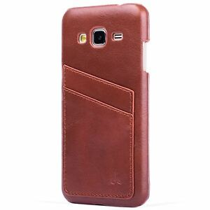 premium selection 8a67e 64812 Details about Snakehive Samsung Galaxy J3(2016) Leather Shell Back Case  Slim Cover Card Slots