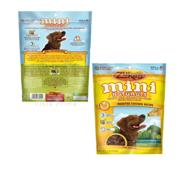 Zuke's Mini Naturals Dog Treats, Healthy Dog Puppy Training Treats, 1 Pound