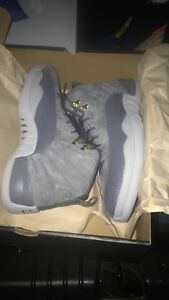 6b8cd98a30d7f1 Nike Air Jordan Retro 12 XII Dark Grey Wolf 130690-005 AUTHENTIC ...